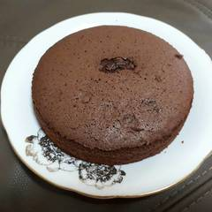 日式基礎巧克力海綿蛋糕 的試煮成品