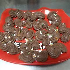 義式巧克力奶油餅乾 的試煮成品