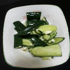 涼拌小黃瓜(夾鍊袋妙用法) 的試煮成品