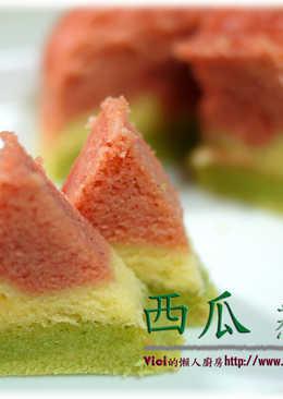 西瓜蒸蛋糕【vici的懶人廚房】