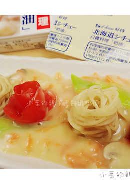 【北海道白醬煮】鮮菇蝦子麵
