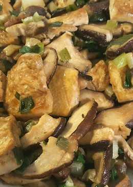鮮香菇燒豆腐