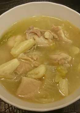 洋蔥蒜頭雞湯