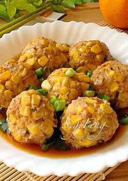 玉米肉丸子(電鍋版)