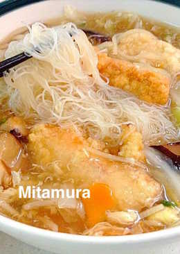 土魠魚米粉羹