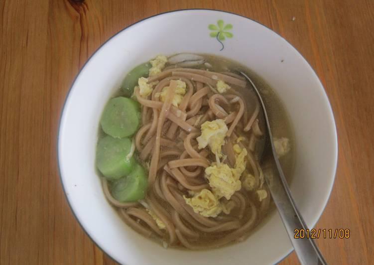 絲瓜魩仔魚麵