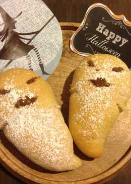 Halloween Ghost Bread-萬聖節幽靈鬼麵包❤!!!