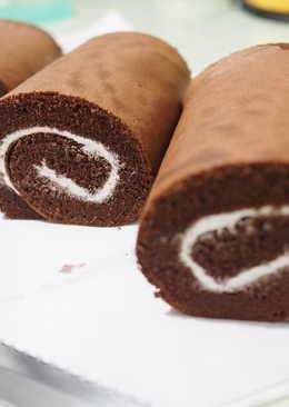 丙級烘培西點蛋糕-巧克力戚風蛋糕捲