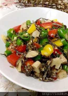 塩麴小魚干糯米椒