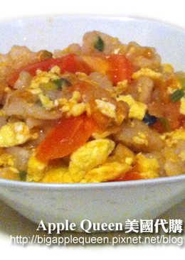 番茄蛋炒麵疙瘩~Tomato fried eggs withtrickled pastry!