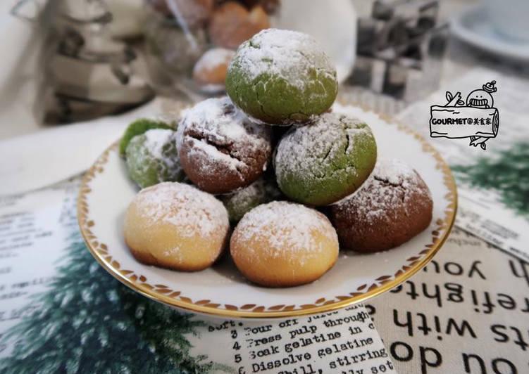 雪球造型餅乾(簡易繽紛同享樂)