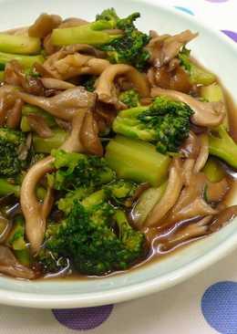 蠔油菇菇滑青花 ★醬汁花椰3