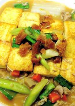 鹹魚雞粒白菜豆腐煲