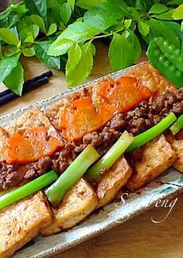 紅燒肉燥豆腐