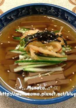 韓式橡實凍冷湯도토리묵냉국