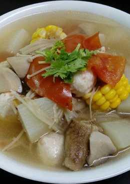 什錦蔬菜丸子湯(素食)