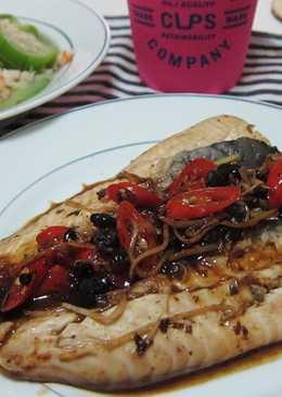 兩道料理免洗鍋:鮮蝦絲瓜+豆豉虱目魚肚
