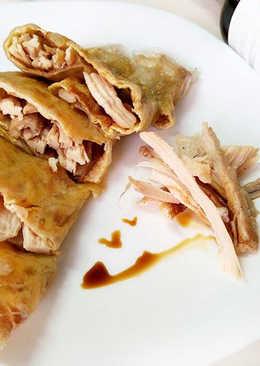 【御釀拌淋風味】薑醬雞絲蛋餅(越南米紙皮)