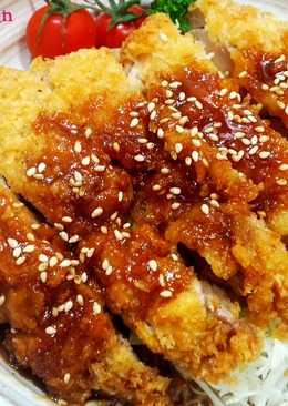 味噌淋醬雞排蓋飯