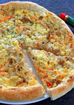 白醬鮪魚蟹肉玉米披薩