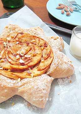 星心肉桂蘋果甜披薩