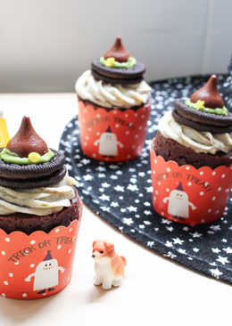 萬聖節-女巫帽巧克力馬芬
