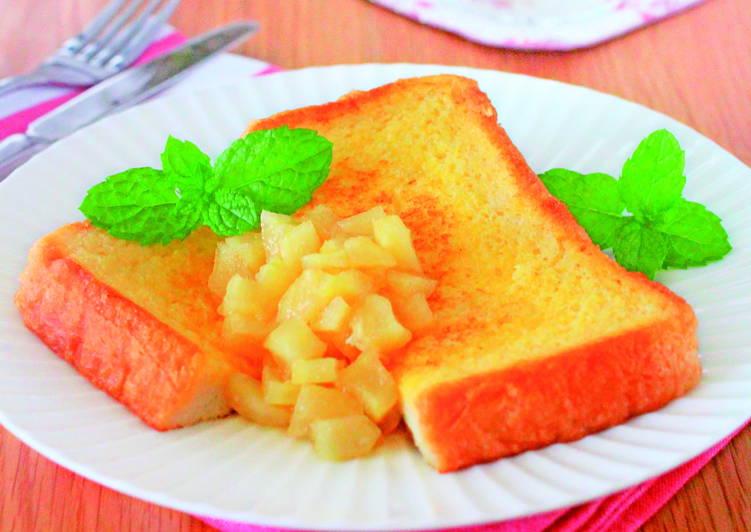 東販小食堂:簡單、美味早午餐 蘋果肉法國奶油吐司