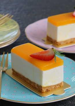 【免烤】百香果白巧克力起士蛋糕