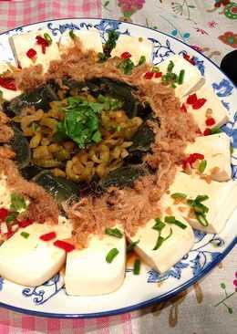 涼拌皮蛋肉鬆榨菜豆腐