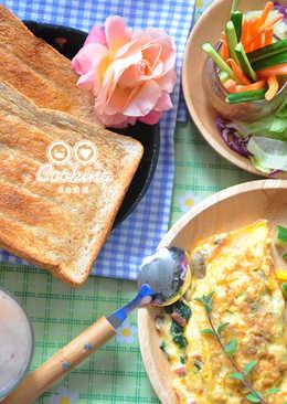菠菜培根磨菇歐姆蛋