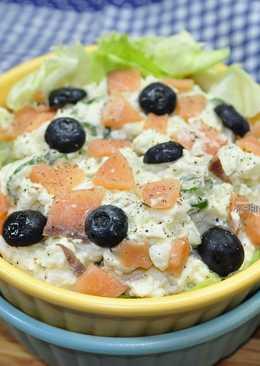 馬鈴薯沙拉佐燻鮭魚