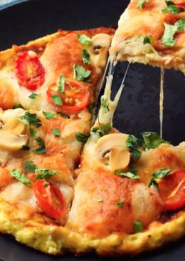 花椰菜披薩 健康無麵粉(影音食譜)
