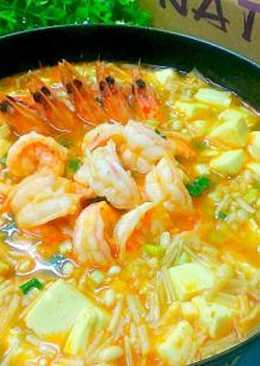 鮮蝦豆腐煲