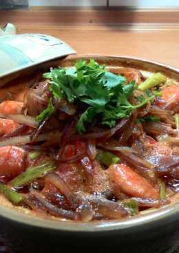 【味王泡麵創意秀】鮮蝦泡麵煲