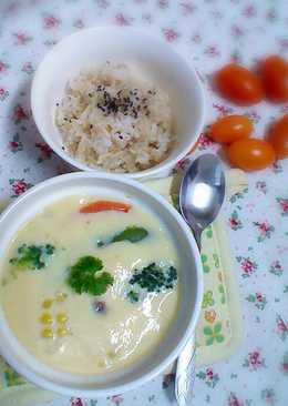 無鹽料理- 蔬菜豆腐茶碗蒸(蛋素)