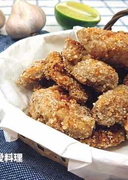 蒜味鹽酥雞(不耍炸。雞胸軟嫰)