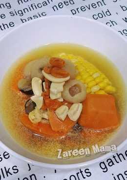<提高抵抗力>腰果紅蘿蔔圓肉素湯