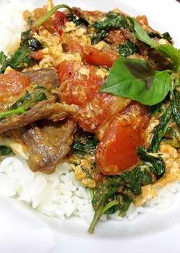 塔香牛肉番茄蛋丼飯