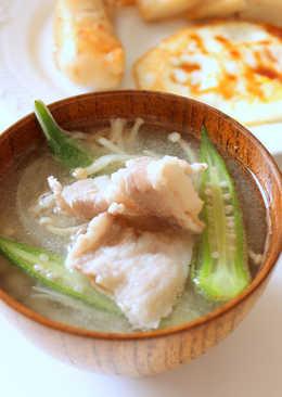 肉片味噌湯