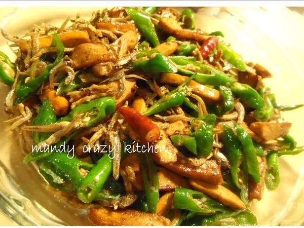 糯米椒炒小魚