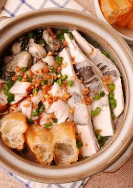 海鮮綜合鹹粥_電鍋料理