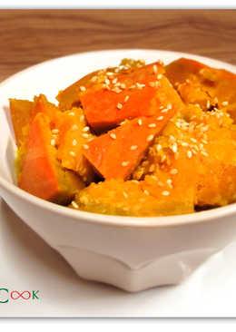菲姐私房菜-味噌燒南瓜