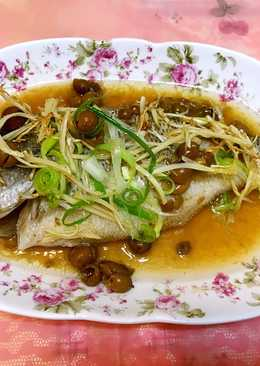 破布子(樹子)清蒸鱸魚