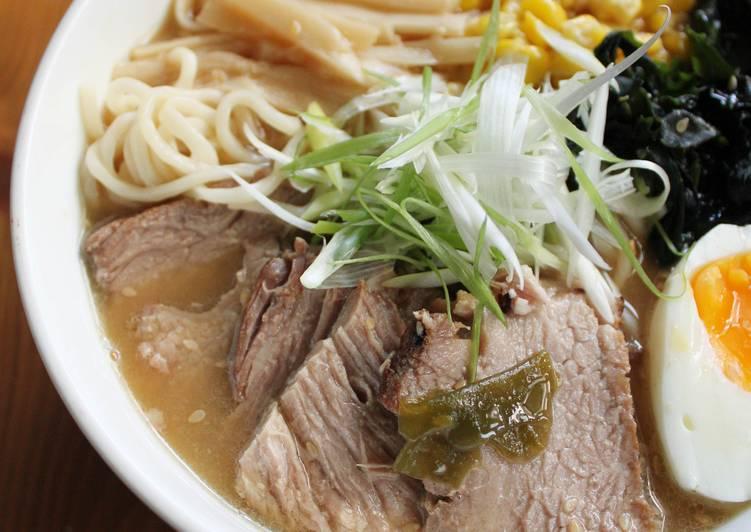 【肉桂打噴嚏】湯頭濃郁的日式叉燒味噌拉麵