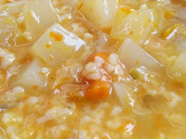 南瓜蘿蔔糙米粥