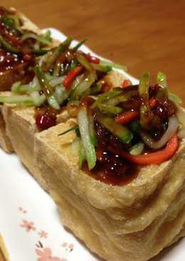 台式涼拌小黃瓜炸豆腐