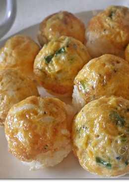 蔥蛋魩仔魚烤飯團