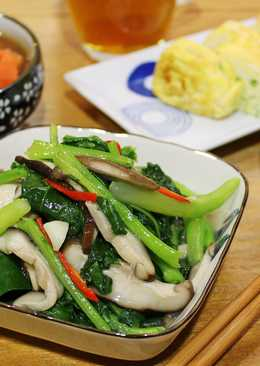 芥蘭燴鮮菇