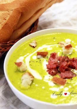 芥末綠的南瓜濃湯
