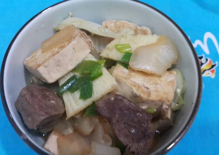 紅燒牛肉豆腐